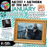 Artwork of The Day for K-5 - JANUARY