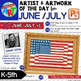 Artwork of The Day for K-5 - JUNE / JULY