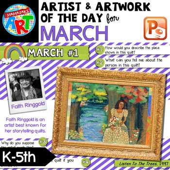 Artwork of The Day for K-5 MARCH