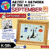 Artwork of The Day for K-5 SEPTEMBER