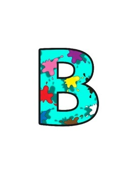 Arty Lettering (upper/lowercase, cursive, numbers, shapes, symbols)