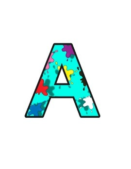 Arty Lettering (upper/lowercase, cursive, numbers, shapes,