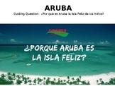 """Aruba """"Isla Feliz de los niños"""" Cloze Reading Book Activity PPT"""