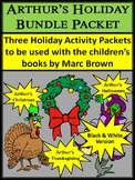 Halloween Activities: Arthur's Holiday ELA Activities Bundle - BW