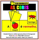 As Cores (Color Flip Booklets in Portuguese)