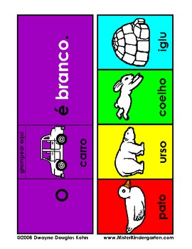 As Cores (Color Flip Booklets in Portuguese)