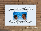 As I Grew Older (Poem by Langston Hughes) Figurative Language