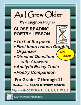 AS I GREW OLDER by Langston Hughes - Close Reading