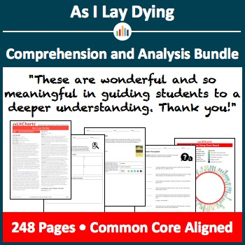 As I Lay Dying – Comprehension and Analysis Bundle