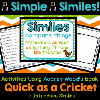 As Simple As Similes - Introducing Similes with Quick as a Cricket