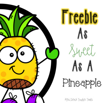 As Sweet As A Pineapple Freebie