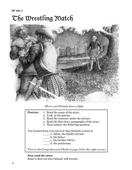 As You Like It 10 Chapters, Student Activities, Answer Keys