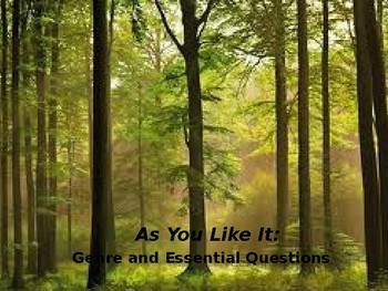 As You Like It: A William in the Forest