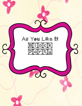 As You Like It Block Party Cards