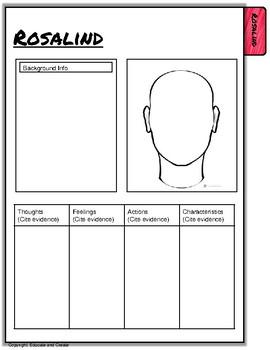 As You Like It - Characterization Flip book