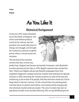 As You Like It- Historical Background