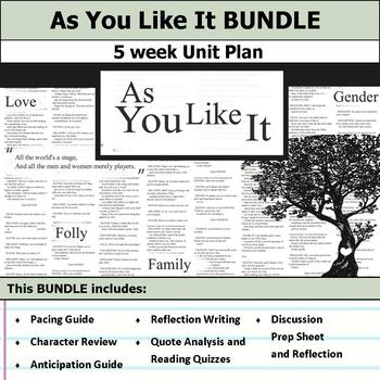 As You Like It by William Shakespeare Unit Bundle