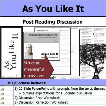 As You Like It by William Shakespeare - Socratic Method Post Reading Discussion