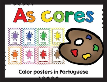 As cores / Colors in Portuguese