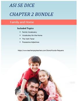 Así se dice Chapter 2 Level 1 Spanish BUNDLE (Tener, Family, Possessive Adj)