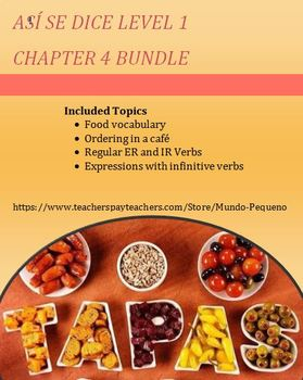 Así se dice Chapter 4 BUNDLE (ER/IR Verbs, Expressions wit