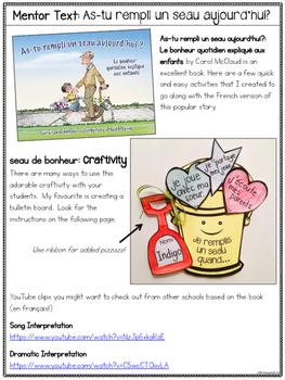 As-tu rempli un seau aujourd'hui French Companion Unit Bucket Fillers