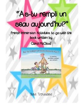 As-tu rempli un seau aujourd'hui/French Immersion Bucket F
