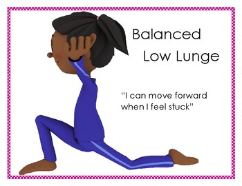 Asana & Affirmation- Balanced Low Lunge