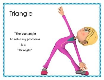 Asana & Affirmation- Triangle Pose Poster
