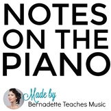 Notes on the Piano - Study Guide (Printable)