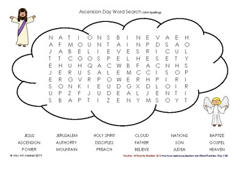 Ascension Day – Word Search