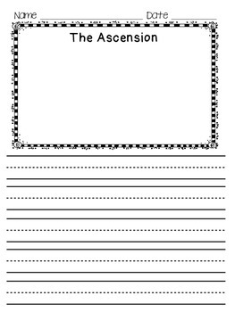Ascension Word Search with Vocab Word Wall cards
