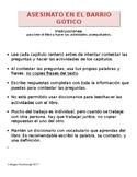 Asesinato en el Barrio Gótico Student Reading Guide