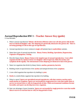 Asexual Reproduction Homework 1 Assignment