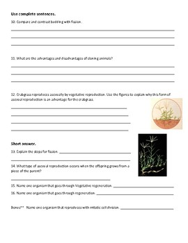 Asexual Reproduction Test and Review