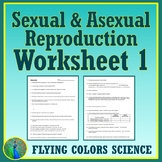 Asexual & Sexual REPRODUCTION Review Worksheet Middle School NGSS MS-LS3-2