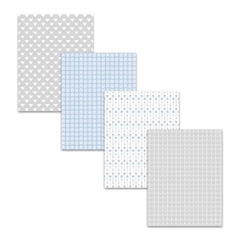 Ash Gray Light Blue Arrow Digital Papers & Backgrounds - Commercial Use