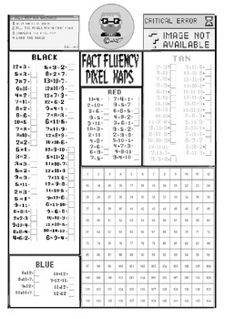 Ash Ketchum inspired Fact Fluency Pixel Map for middle primary