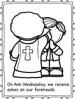 Ash Wednesday Coloring Pages By Miss P S Prek Pups Tpt
