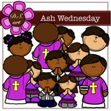 Ash Wednesday Digital Clipart (color and black&white)