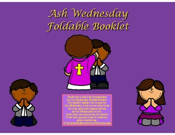 Ash Wednesday Foldable Booklet