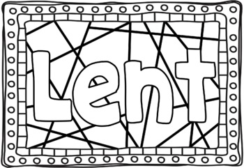 Lent & Ash Wednesday Colouring Pages ~ Bible Theme