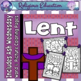 Lent & Ash Wednesday Coloring Pages ~ Bible Theme