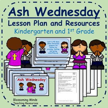 Ash Wednesday Lesson Plan - Kindergarten and 1st Grade