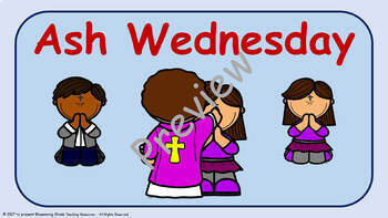 Ash Wednesday Lesson Plan (Lent) - 2nd to 5th Grade