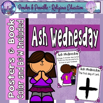 Ash Wednesday Posters and Booklet ~ Bible Theme