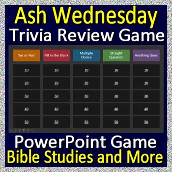 Ash Wednesday Review Game