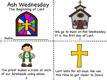 Ash Wednesday - The Beginning of Lent Mini Book and Lent Logging Pages