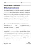 Ash Wednesday Worksheet for Lent