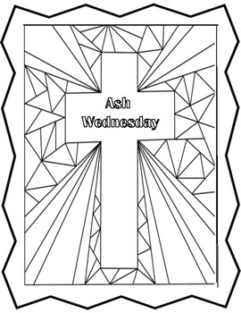 Ash Wednesday And Lent Coloring Pages And Mini Poster Set By Miss